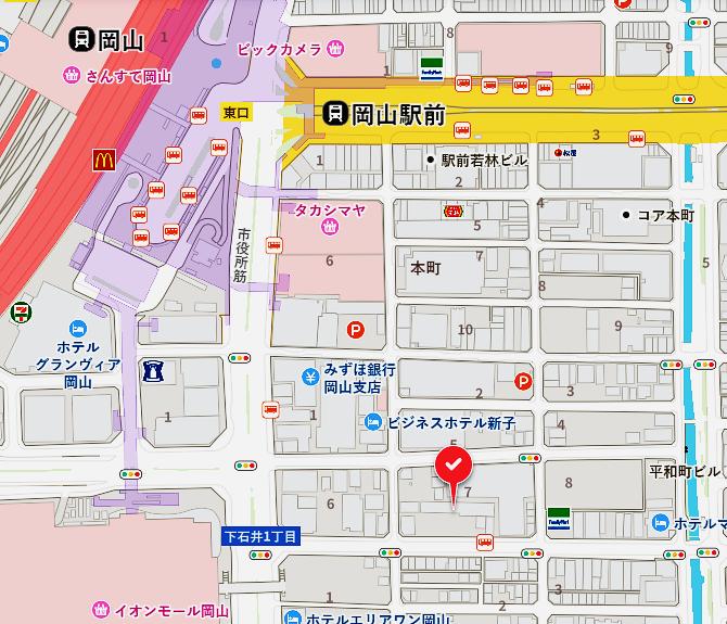 県庁通り店地図